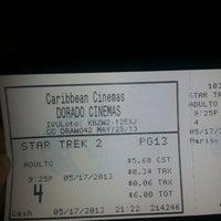 Photo taken at Dorado Cinemas by Giselle C. on 5/18/2013