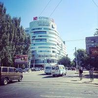 Photo taken at остановка «ул. Рахова» by Alexey K. on 8/28/2013