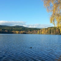 Photo taken at Sognsvann by Maria on 10/13/2014