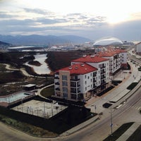Photo taken at Olympic Village by Oxana D. on 1/28/2014