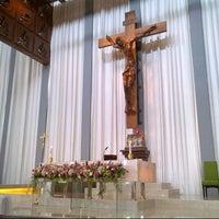 Photo taken at Gereja Katolik Regina Caeli by Kalvina K. on 7/7/2013