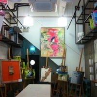 Photo taken at Cups N Canvas by Jacqui H. on 1/22/2013