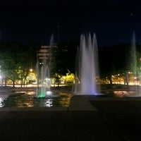 Photo taken at Freimann Square by Michael M. on 5/25/2014