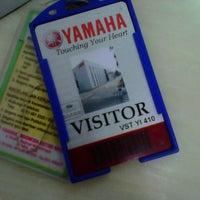 Photo taken at Yamaha Indonesia Motor Manufacturing by maya r. on 3/20/2013