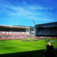 Photo taken at Estádio D. Afonso Henriques by Alexandre G. on 5/17/2015