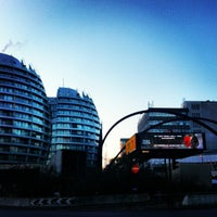 Photo taken at Old Street Roundabout by Sophie R. on 1/17/2013