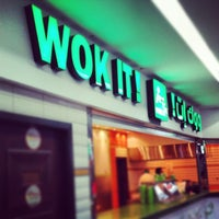 Photo taken at Wok It ! by Meezo S. on 7/4/2014
