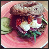 Photo taken at Bagels and Beans by Ludo G. on 3/24/2013