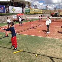 Photo taken at Marina Park Tenis Akademisi by Bünyamin K. on 10/6/2013