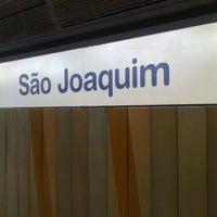 Photo taken at Estação São Joaquim (Metrô) by Benigno J. on 9/19/2012