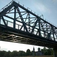 Photo taken at Buļļupes tilts by Edgars L. on 5/28/2016