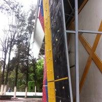 Photo taken at Unidad Deportiva Miguel Aleman Valdez by Rogelio E. on 6/30/2014
