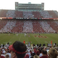 Photo taken at Gaylord Family Oklahoma Memorial Stadium by Mark B. on 9/8/2013