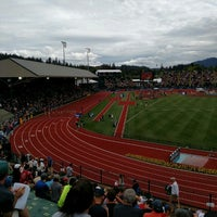 Photo taken at Hayward Field by Nate B. on 7/7/2016