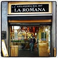 Photo taken at Gelateria La Romana by Marco V. on 6/28/2013