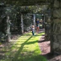 Photo taken at Raleigh Rose Garden by Bryan D. on 10/3/2012