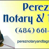 Photo taken at Perez Notary & Tags by Edwina P. on 1/5/2014