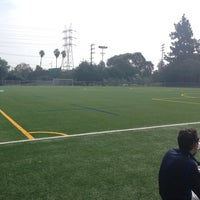 Photo taken at Griffith Park - Artificial Turf Soccer Field by Raija H. on 4/1/2018