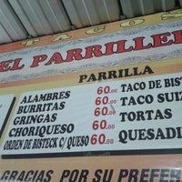 "Photo taken at Tacos ""El Parrillero"" by Frodo L. on 1/25/2014"