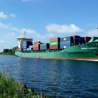 Photo taken at Kiel Canal by Женя Л. on 6/18/2017
