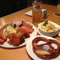 Photo taken at Paulaner Bräuhaus by Gerard S. on 12/18/2012