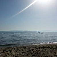 Photo taken at Sanz Beach by Hazal A. on 10/15/2013