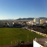 Photo taken at Γήπεδο Αχαρναϊκού by Giorgio K. on 12/8/2013