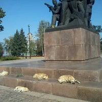 Photo taken at Мемориал Героям Ольшанцам by Oleksandr Z. on 10/8/2014