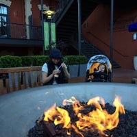 Photo taken at Festive Fireplace at Ghirardelli Square by Ruslan A. on 3/12/2014