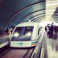 Photo taken at Maglev Train Longyang Road Station by takesea on 2/1/2013