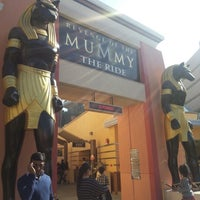 Photo taken at Revenge of the Mummy - The Ride by Jung Ho H. on 11/3/2012