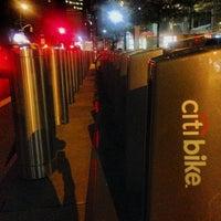 Photo taken at Citi Bike Station by James C. on 7/19/2013
