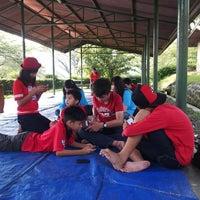 Photo taken at COMBAT Adrenalin Park by Endah D. on 6/14/2014