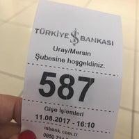 Photo taken at Türkiye İş Bankası Uray Şubesi by Aslı C. on 8/11/2017