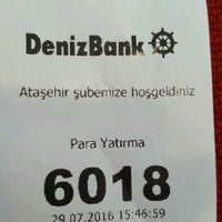 Photo taken at DenizBank by Kenan Mete İstanbul on 7/29/2016