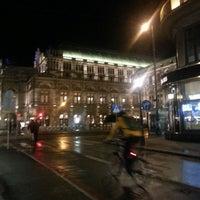 Photo taken at Haltestelle Wien Oper by Nil T. on 2/9/2014