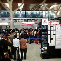 Photo taken at T2 Shanghai Pudong Int'l Airport by Shige on 4/1/2013