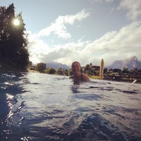 Photo taken at Mountain Spa Hotel 4 Valées by Paulien P. on 9/12/2017