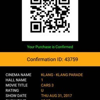 Photo taken at Golden Screen Cinemas (GSC) by Aziera R. on 8/31/2017