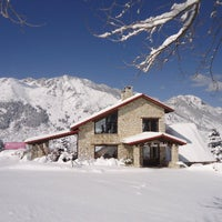 Photo taken at Le Grand Chalet by Vassilis T. on 3/7/2015