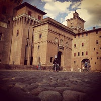 Photo taken at Castello Estense by Riccardo S. on 6/23/2013