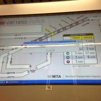 Photo taken at Van Ness MUNI Metro Station by Miha R. on 2/15/2013
