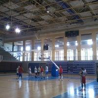 Photo taken at Complexo Municipal dos Desportos by Pedro R. on 4/15/2014