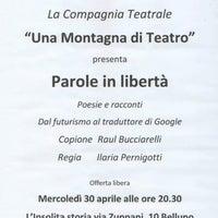 Photo taken at Una Montagna di Teatro by Una Montagna d. on 8/13/2014