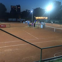 Photo taken at Tennis Club Albena by Olli on 7/18/2015