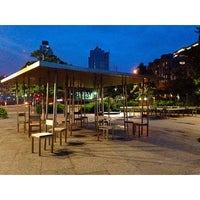 Photo taken at Two Too Large Tables - Hudson River Park by Treyci on 6/26/2014