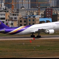 Photo taken at Thai Airways Flight TG 044 by Chinaphong K. on 7/30/2014