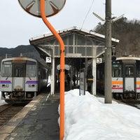 Photo taken at Bingo-Ochiai Station by お抹茶太郎 on 3/1/2017