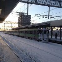 Photo taken at 白石駅 5-6番線ホーム by お抹茶太郎 on 12/28/2013