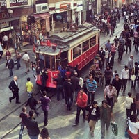 Photo taken at İstiklal Avenue by Donya R. on 10/16/2013